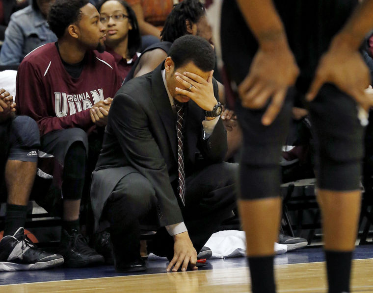 Virginia Union University's head coach Luqma...