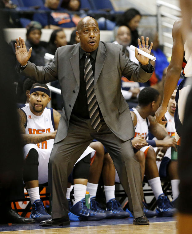 Virginia State University's head coach Lonni...