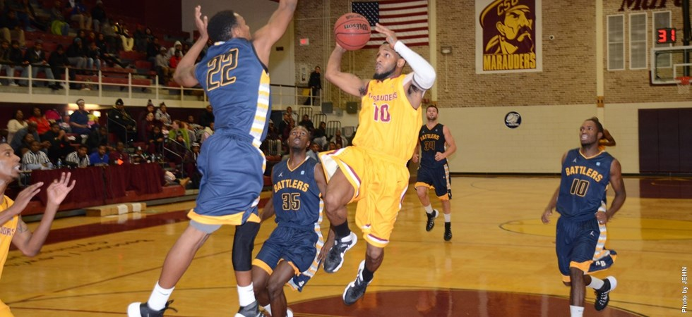 Central State drives to the basket against Alders...