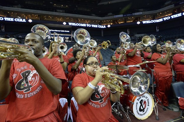 Winston-Salem State University's pep band &q...
