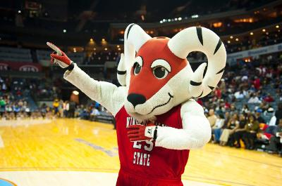 Winston-Salem State Rams mascot at the CIAA Torun...