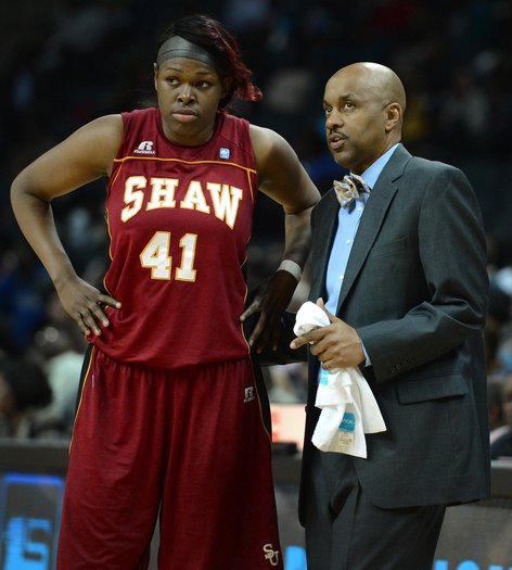 "Shaw University ""Lady Bears"" head coach..."