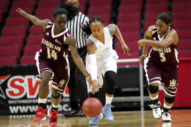 Southern Lady Jaguars and Alabama A&M Lady Bulldo...
