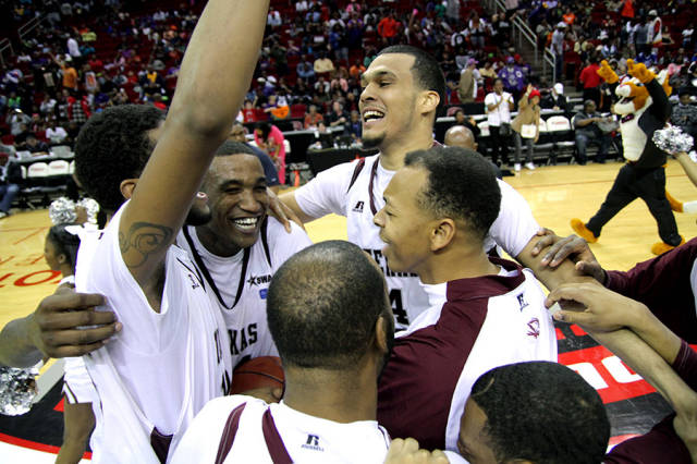 Texas Southern University Tigers  celebrates afte...