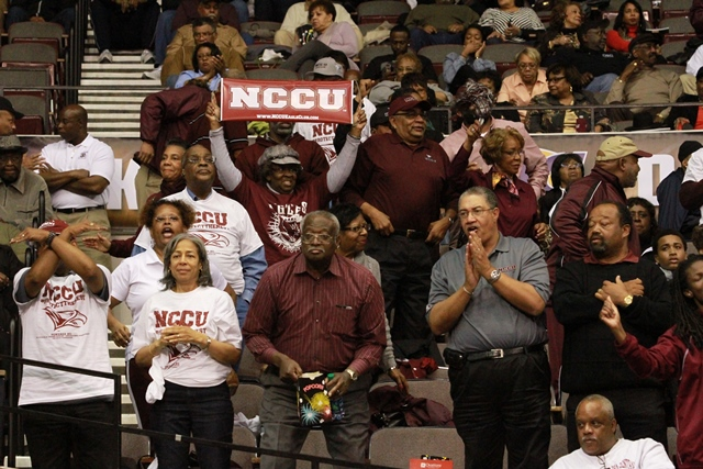 North Carolina Central Eagle fans at the 2014 MEA...