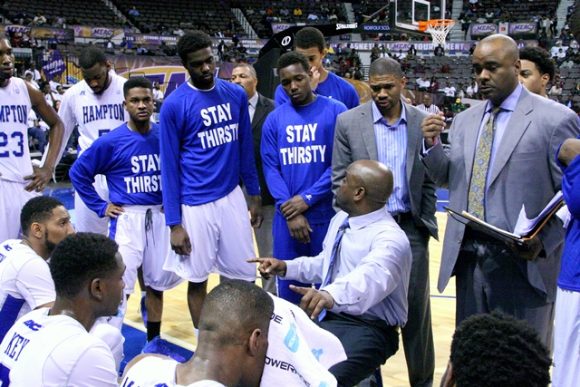 Hampton University head basketball coach Edward J...