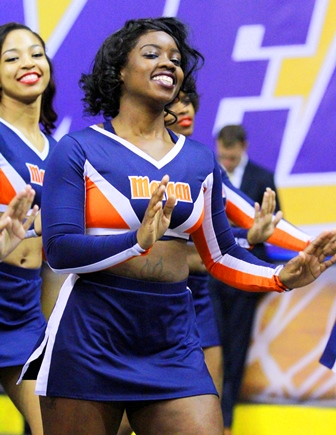 Morgan State University cheerleaders