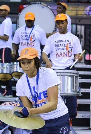 Morgan State pep band jamming at the 2014 MEAC Ba...