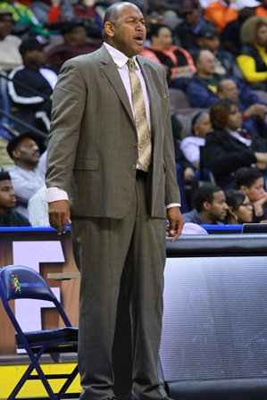 Florida A&M coach Clemon Johnson looks on as his ...