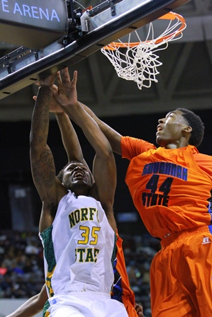 Norfolk State and Savannah State battle for the b...