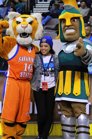Savannah State Tiger and Norfolk State Spartan ma...