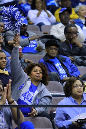 Hampton University fans come to see the Lady Pira...