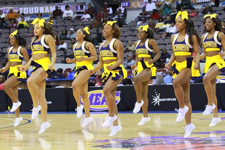 North Carolina A&T Aggie Cheerleaders at the 2014...