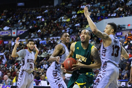Norfolk State Spartans take on the Eagles of Nort...