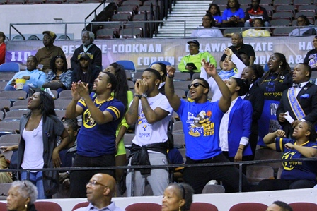 Coppin State Eagle fans supporting the Lady Eagle...