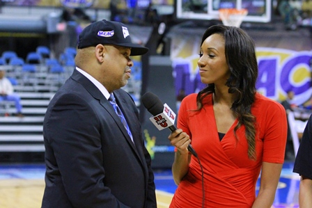 Hampton University coach is interviewed by ESPNU