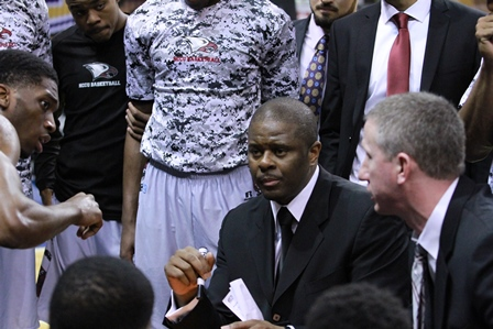 North Carolina Central basketball coach LeVelle M...