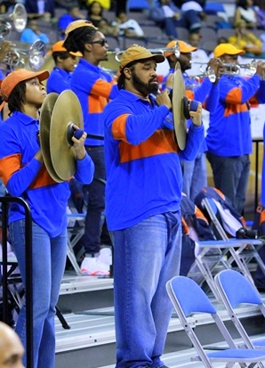 Morgan State University Bears pep band at MEAC Ch...