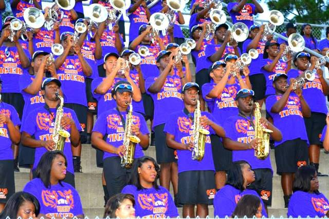 Edward Waters College marching band plays during ...