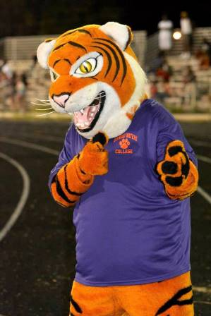 Edward Waters College Tiger mascot at the opening...
