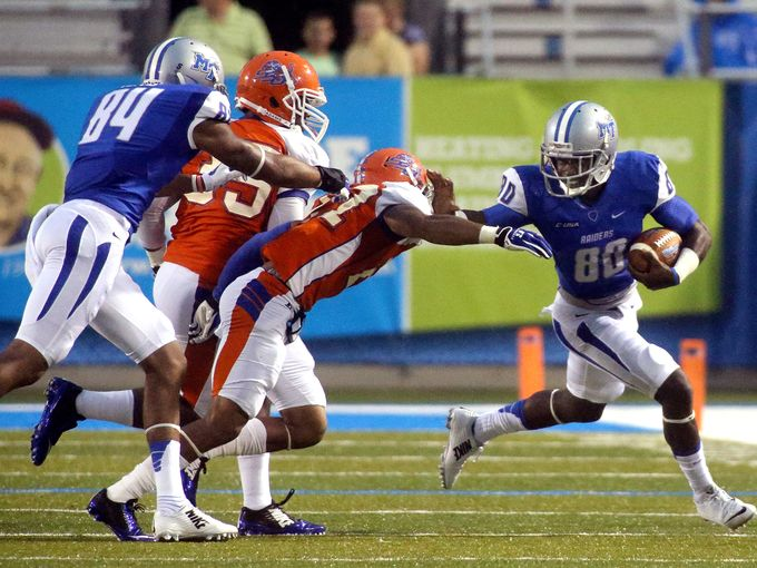 Savannah State Tigers get pushed around by Middle...