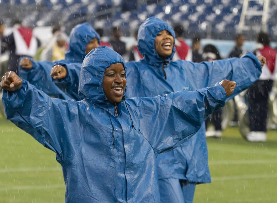 Tennessee State Tiger cheerleaders, cheer on a so...