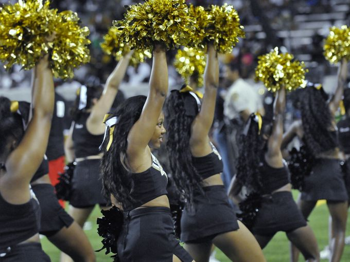 Alabama State University Cheerleaders at the game...