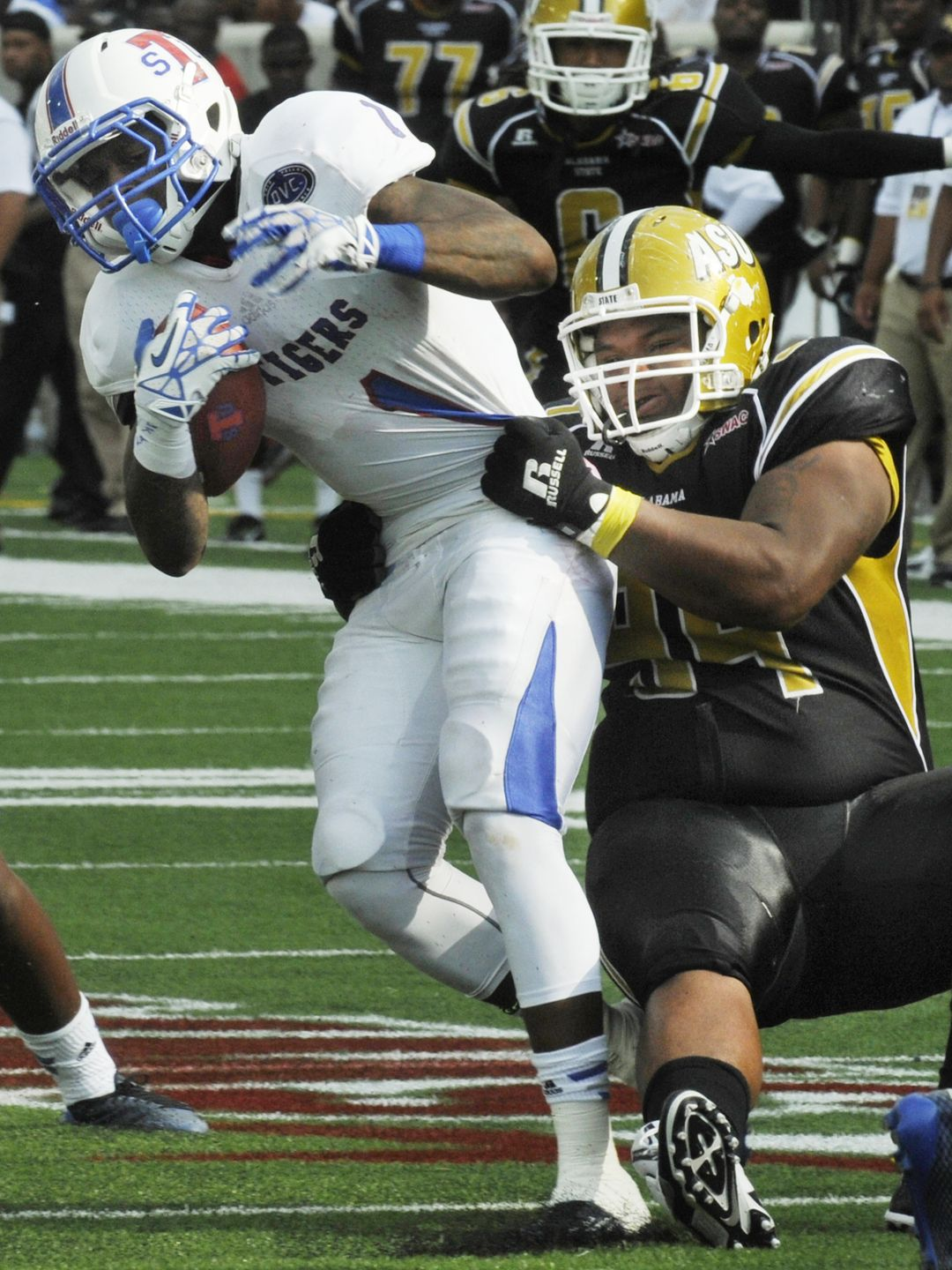 Alabama State University Hornets defeat the Tiger...
