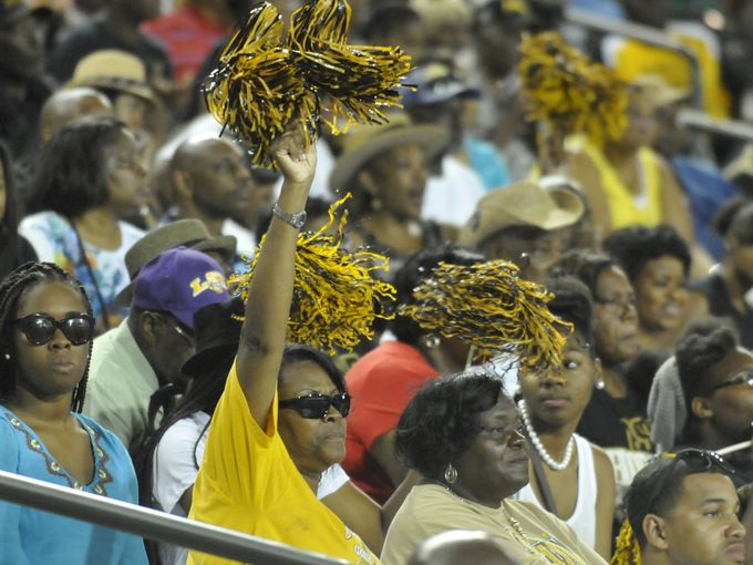 Fans watch as Alabama State plays Tennessee State...