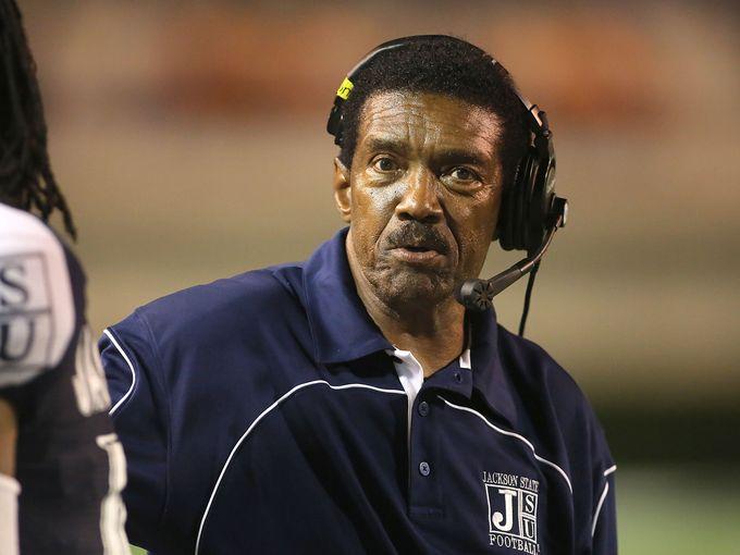 Jackson State head football coach Harold Jackson ...