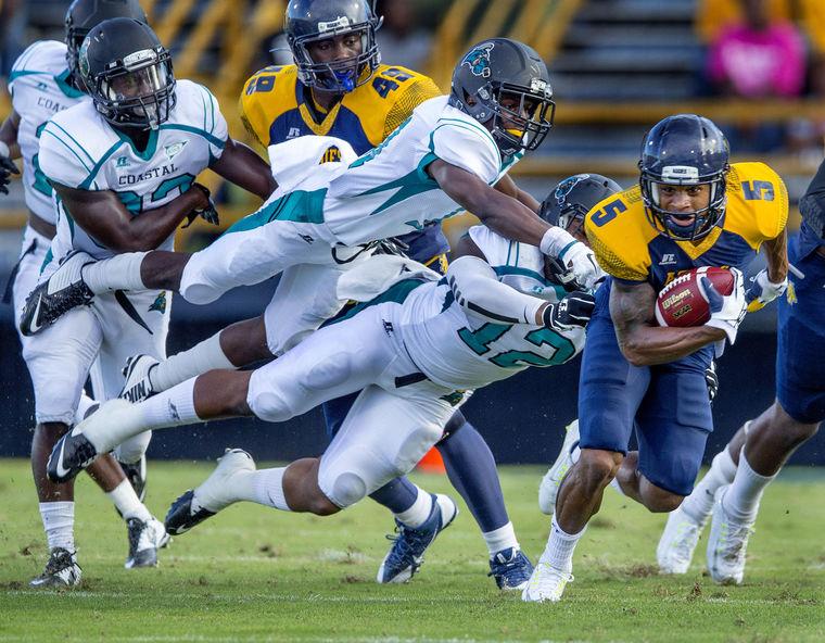 North Carolina A&T nearly upsets No. 5 Coastal Ca...