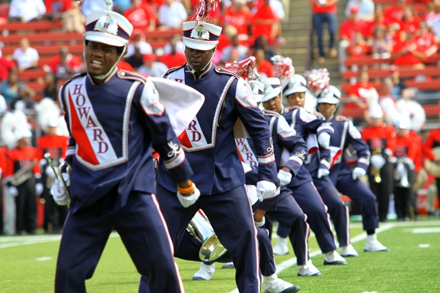 Howard University Showtime Marching Band performs...