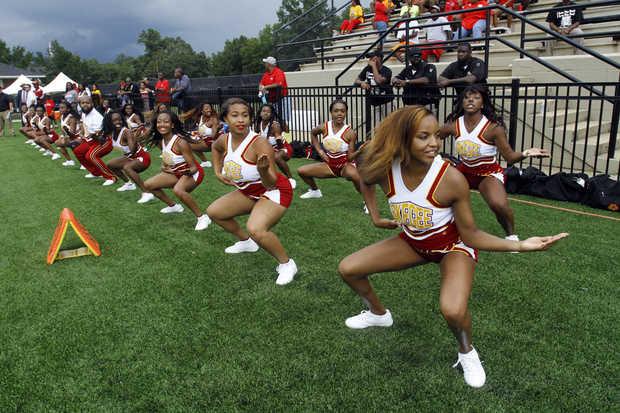 Tuskegee University Golden Tiger cheerleaders