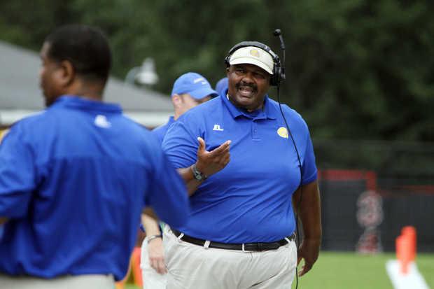 Albany State head coach walks the sideline