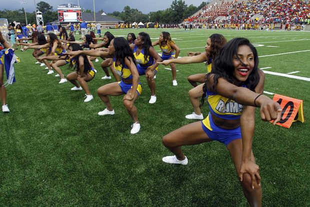 Albany State Golden Rams cheerleaders