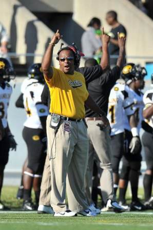 Grambling State Tigers head coach calls out to hi...