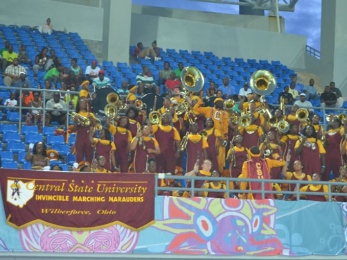 Central State marching band in Nassau Bahamas