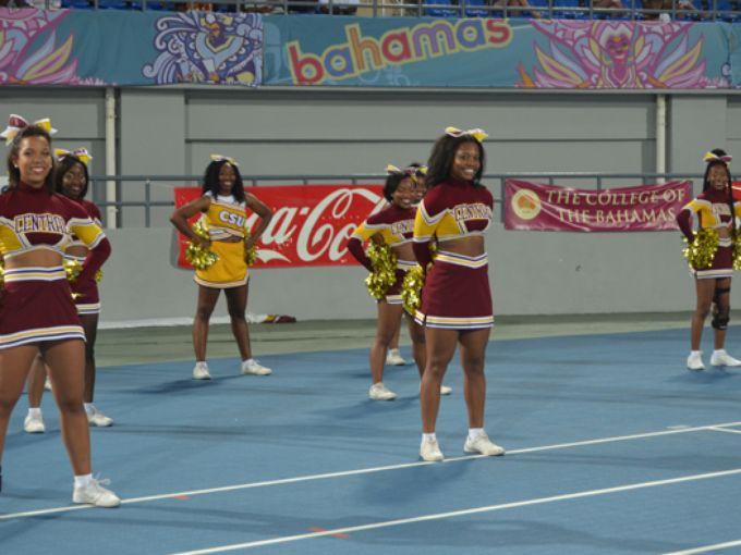 Central State University cheerleaders in Nassau B...