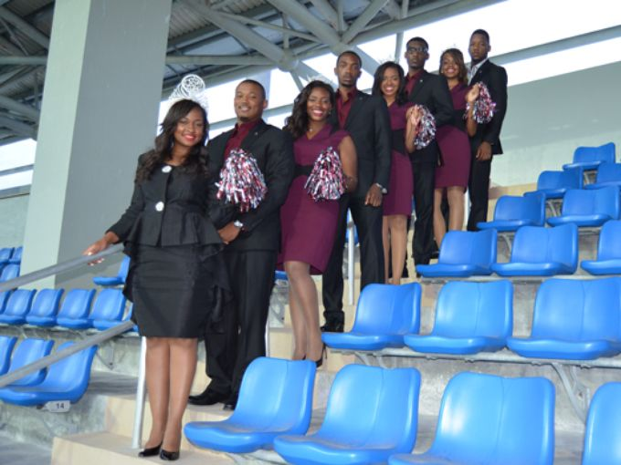 Miss Texas Southern University and Court in Nassa...
