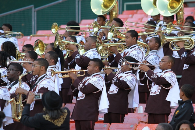Morehouse College marching band at the Nations Fo...
