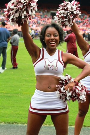 Morehouse Maroon Tigers cheerleaders at the Natio...