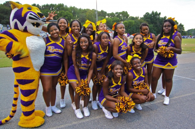 Benedict College Cheerleaders at the Down East Vi...