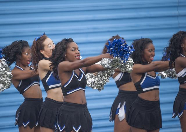 Fayetteville State Bronco cheerleaders