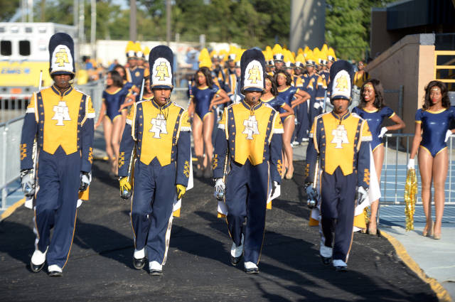North Carolina A&T Blue and Gold marching machine