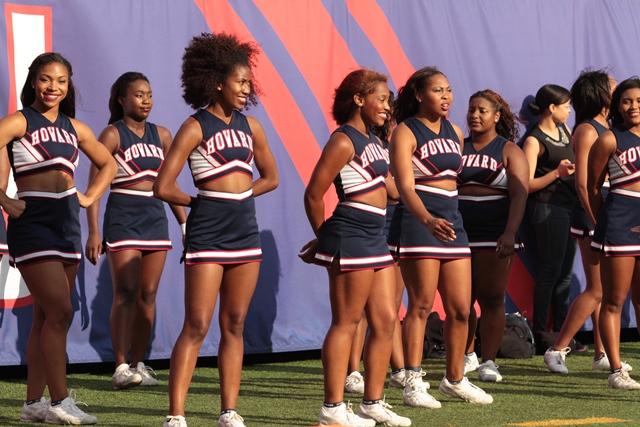 Howard University cheerleaders at the 42nd NYUL C...