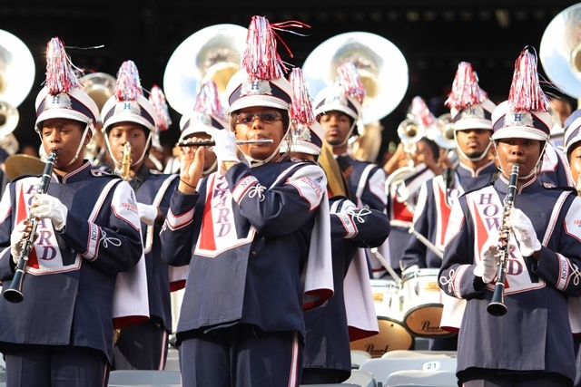 Howard University marching band performs in the s...