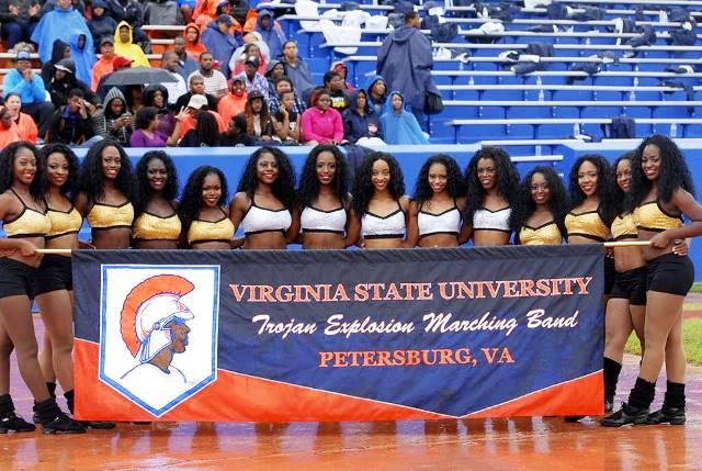 Virginia State University Essence of Troy dancers...