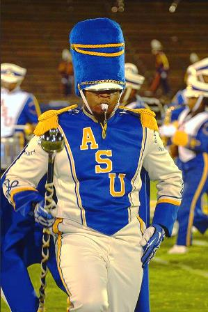 Albany State Golden Rams drum major and marching ...