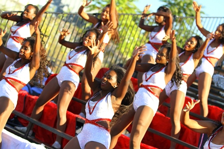 Howard Ooh La La Dancers perform in the stands