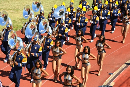North Carolina A&T Blue and Gold marching machine...